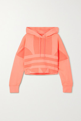 adidas Adicolor Cropped Cotton-terry Hoodie - Orange