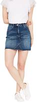 Miss Selfridge Authentic Denim Skirt, Mid Wash Denim