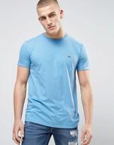 Lacoste Small Logo T-shirt Regular Fit Pima Jersey In Light Blue Marl