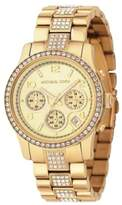 Michael Kors MK5109 Chronograph Gold-Tone Crystal Stainless Steel Womens Watch
