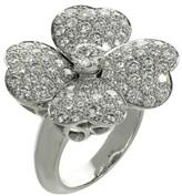 Van Cleef & Arpels Cosmos Model White Gold Diamond Ring Size 7.25