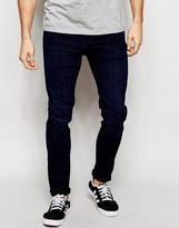 Dr Denim Jeans Snap Skinny Fit Midnight Dark