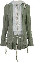 Greg Lauren E-1 hooded jacket