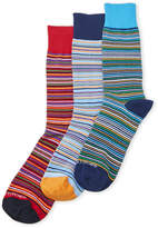 Unsimply Stitched 3-Pack Thin Stripe Crew Socks