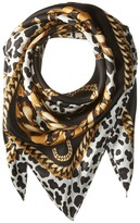 Marc Jacobs Leopard and Chains Scarf Scarves