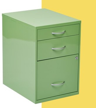 Hashtag Home Medrano 3 Drawer Vertical Filing Cabinet Finish: Green