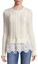 Love Sam Lace Hem Wool & Cashmere Sweater