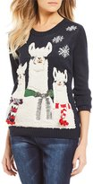 So It Is Sherpa Llama Holiday Sweater