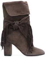 Aquazzura 'Fringe Tie' boots - women - Leather/Suede - 36