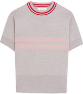 Tim Coppens Striped Merino Wool Sweater - Light gray
