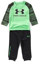 Under Armour Baby Boys 12-24 Months Printed-Sleeve Logo Tee & Pants Set