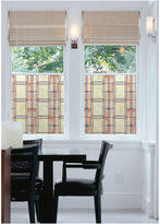 Brewster Wall 17in x 78in Arts and Crafts Stained Glass Window Film- Set of 2