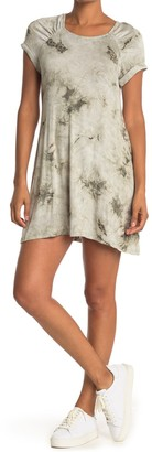 MSK Tie Dye Rolled Cuff T-Shirt Dress