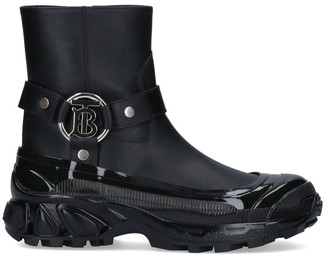 Burberry Buckle Detail Ankle Boots