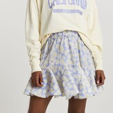 Thumbnail for your product : River Island Womens Purple mini flounce floral skirt