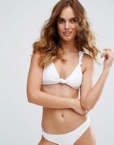 Minimale Animale White Front Knot Bikini Top