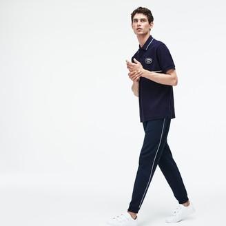 Lacoste Men's Regular Fit Striped Accents Petit Pique Polo