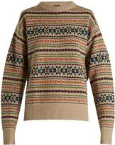 Joseph Fair Isle slit-sleeve wool-knit sweater