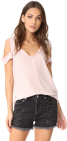 Pam & Gela V Neck Cold Shoulder Tee