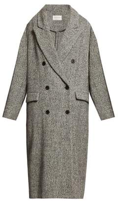Etoile Isabel Marant Habra Double Breasted Overcoat - Womens - Light Grey