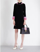Gucci Ruffled stretch-crepe dress