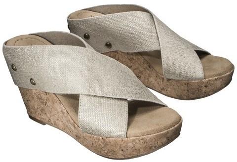 Merona Women's Nadia Wedge Cork Heels - Assorted Colors