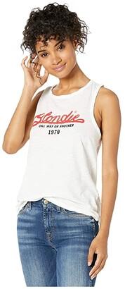The Original Retro Brand Blondie Soft Slub Tank (White) Women's Clothing