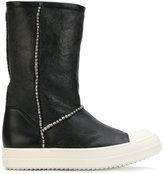 Rick Owens slip-on boots - women - Lamb Skin/Leather/Lamb Fur/rubber - 35