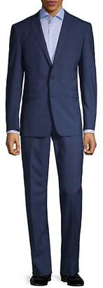 Vince Camuto Slim-Fit Windowpane Wool-Blend Suit