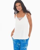 Soma Intimates Pajama Cami With Lace Ivory