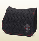 Gucci Black Saddle Blanket With Crest Patch From Equestrian Collection