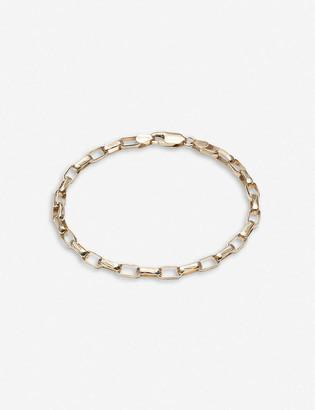 Rachel Jackson Box-chain 22ct gold-plated sterling silver bracelet