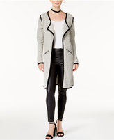 Bar III Contrast-Trim Duster Cardigan, Created for Macy's