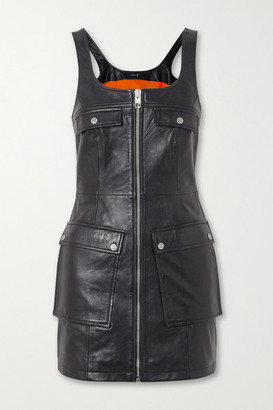 Ksubi Phantom Leather Mini Dress - Black