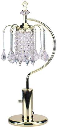 o.r.e International 715G 27-Inch Height Gold Table Lamp with Crystal-Inspired Shade