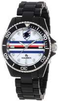 Haurex Italy Women's US339DNW Sport-R U.C. Sampdoria Rotating Bezel Black Watch