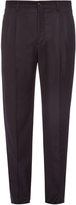 Giorgio Armani Pleated flannel-wool trousers