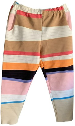 Issey Miyake Multicolour Polyester Trousers