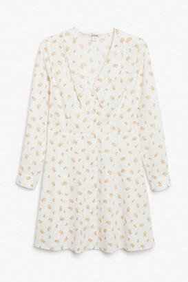 Monki Long sleeve mini dress