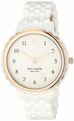 Kate Spade Women's Scallop Quartz Watch with Stainless-Steel-Plated Strap