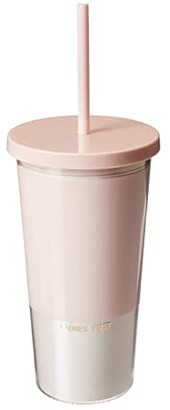 Kate Spade Bridal Tumbler with Straw (Ladies First) Glassware Cookware