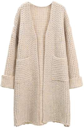 Goodnight Macaroon 'Charlotte' Waffle Knit Open Cardigan with Pockets (4 Colors)