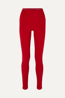 Prada Ribbed-jersey Leggings - Red