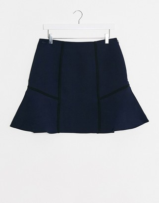 Lacoste pleated skirt in navy