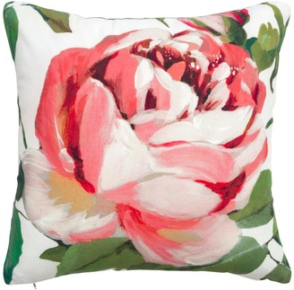 Wallace Cotton Rose Anna Square Cushion Pink