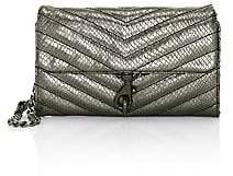 Rebecca Minkoff Women's Edie Quilted Metallic Leather Wallet-On-Chain