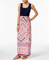 Trixxi Juniors' Strappy-Back Maxi Dress