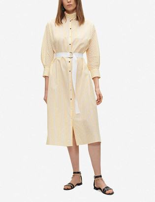 Claudie Pierlot Striped cotton midi shirt dress