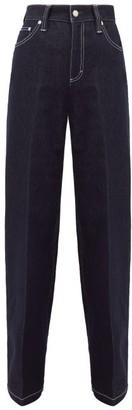 Chloé High-rise Cotton-blend Wide-leg Jeans - Denim