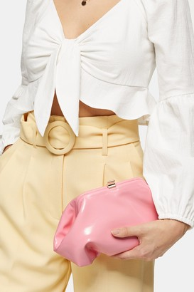 Topshop Womens Pink Patent Mini Clutch Bag - Pink